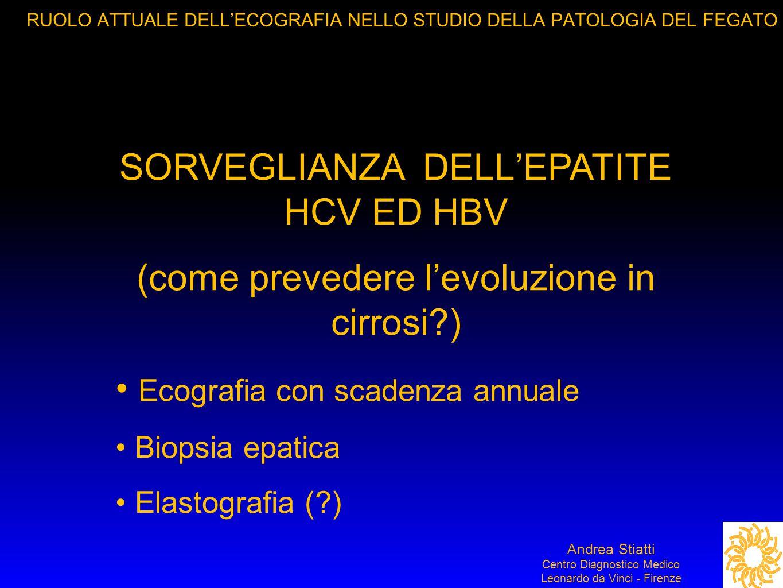 SORVEGLIANZA DELL'EPATITE HCV ED HBV