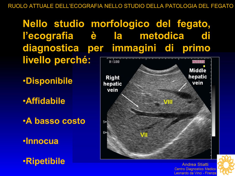 RUOLO ATTUALE DELL'ECOGRAFIA NELLO STUDIO DELLA PATOLOGIA DEL FEGATO RR
