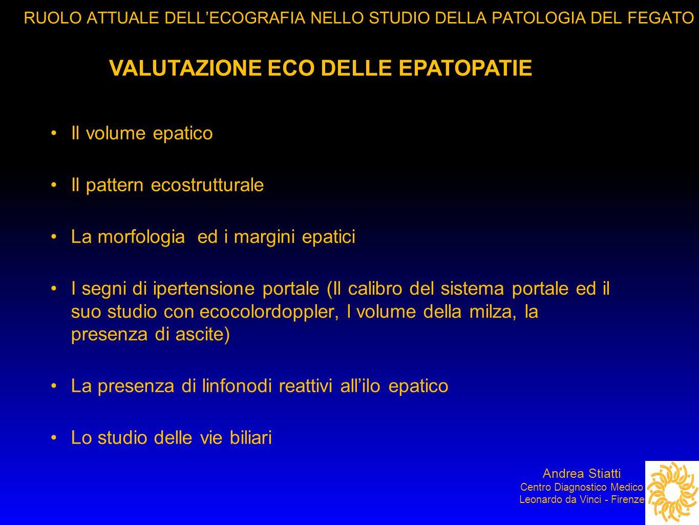 VALUTAZIONE ECO DELLE EPATOPATIE