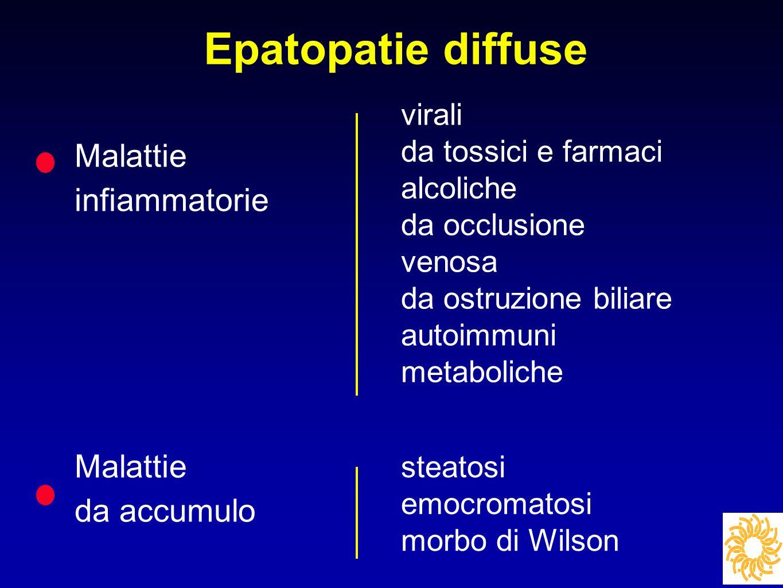 Epatopatie diffuse Malattie infiammatorie da accumulo virali