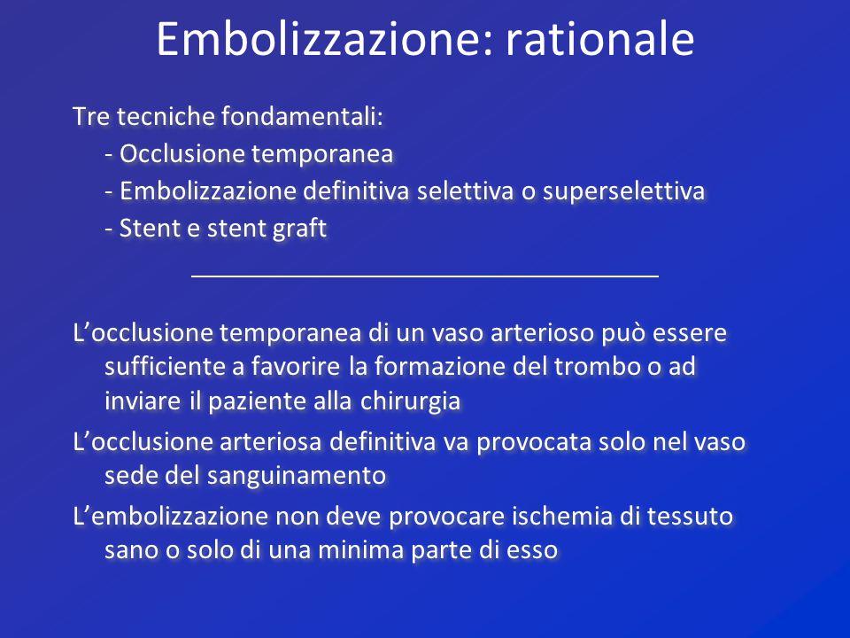 Embolizzazione: rationale