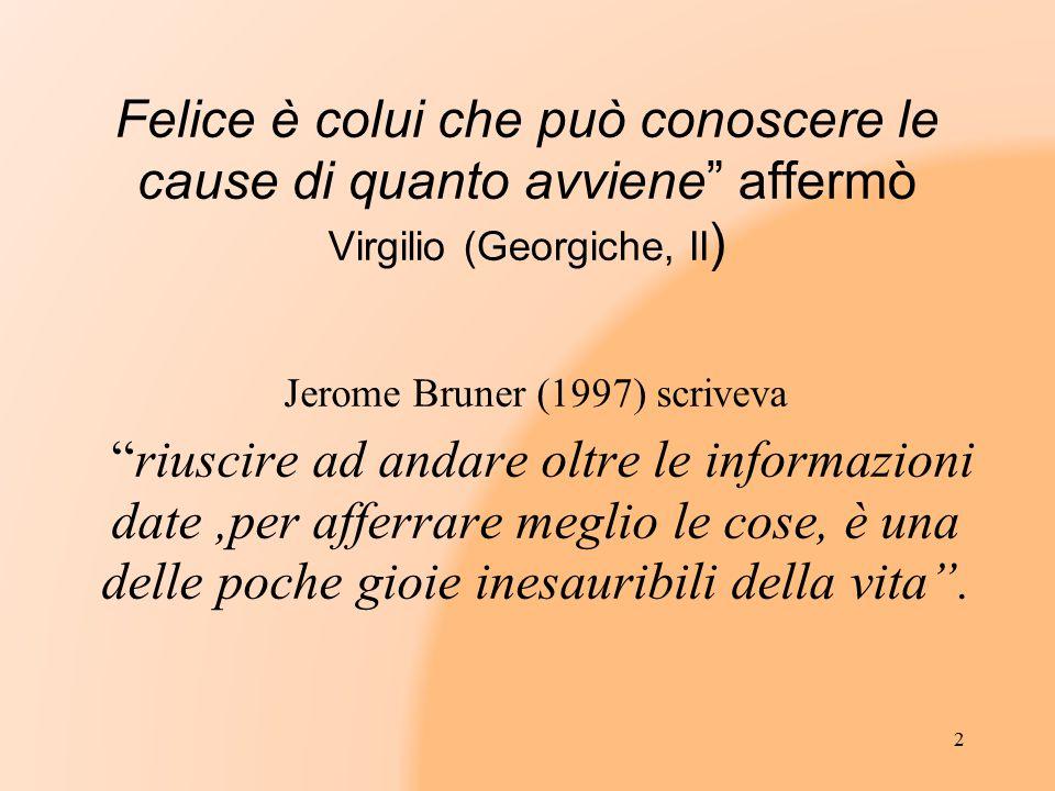 Jerome Bruner (1997) scriveva