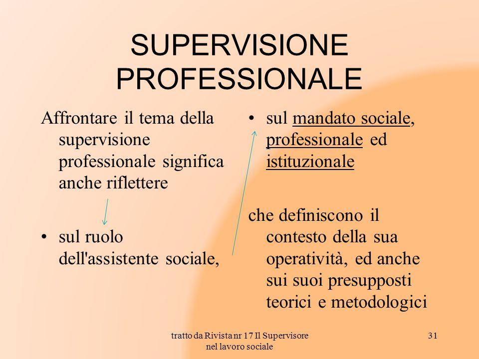 SUPERVISIONE PROFESSIONALE