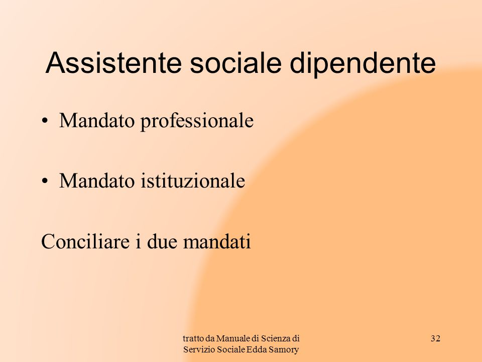 Assistente sociale dipendente