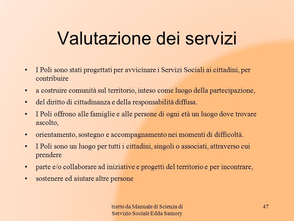 Valutazione dei servizi