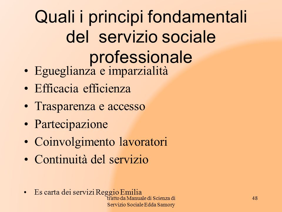Quali i principi fondamentali del servizio sociale professionale