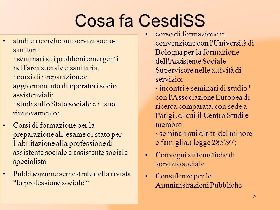 Cosa fa CesdiSS