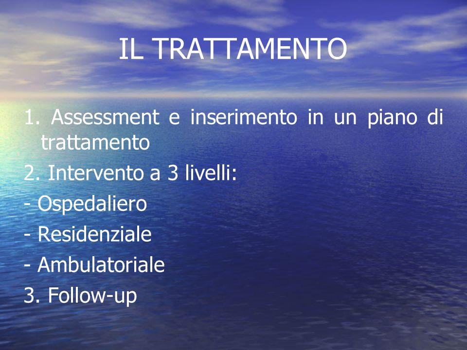 IL TRATTAMENTO 1. Assessment e inserimento in un piano di trattamento