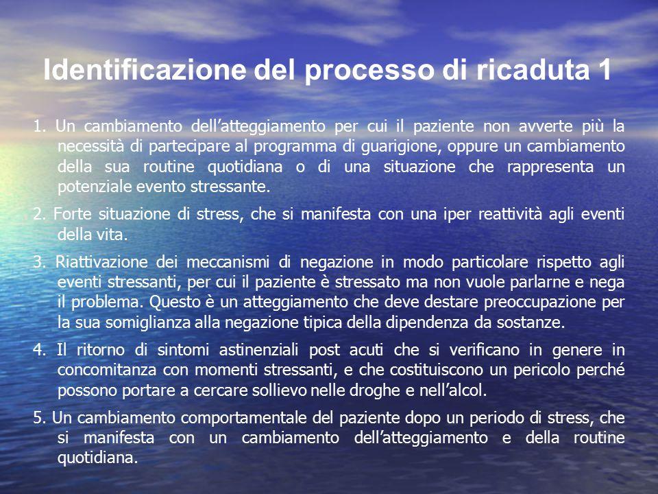 Identificazione del processo di ricaduta 1