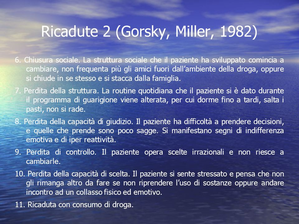 Ricadute 2 (Gorsky, Miller, 1982)