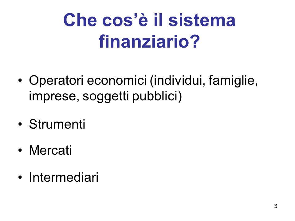 Che cos'è il sistema finanziario