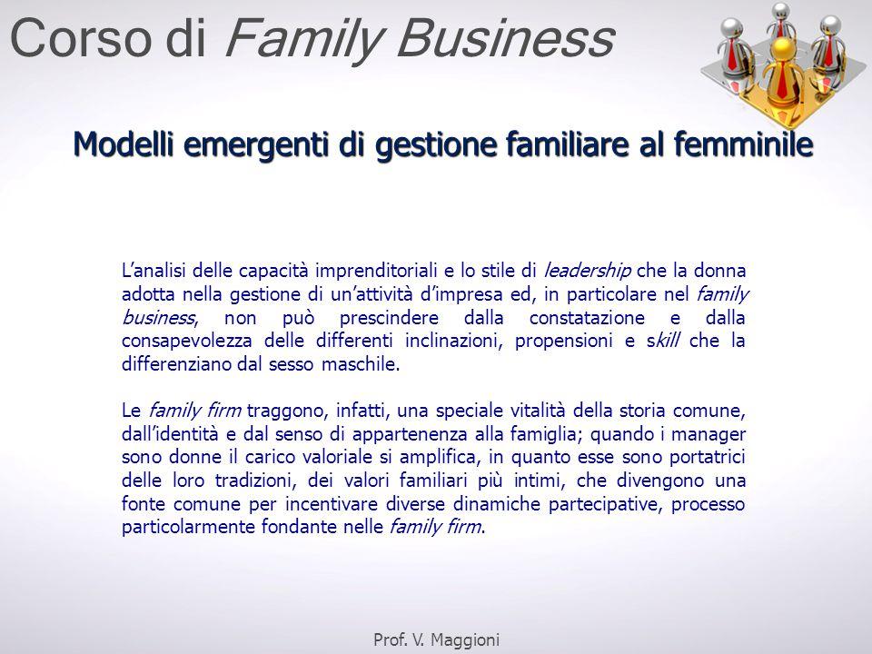Modelli emergenti di gestione familiare al femminile
