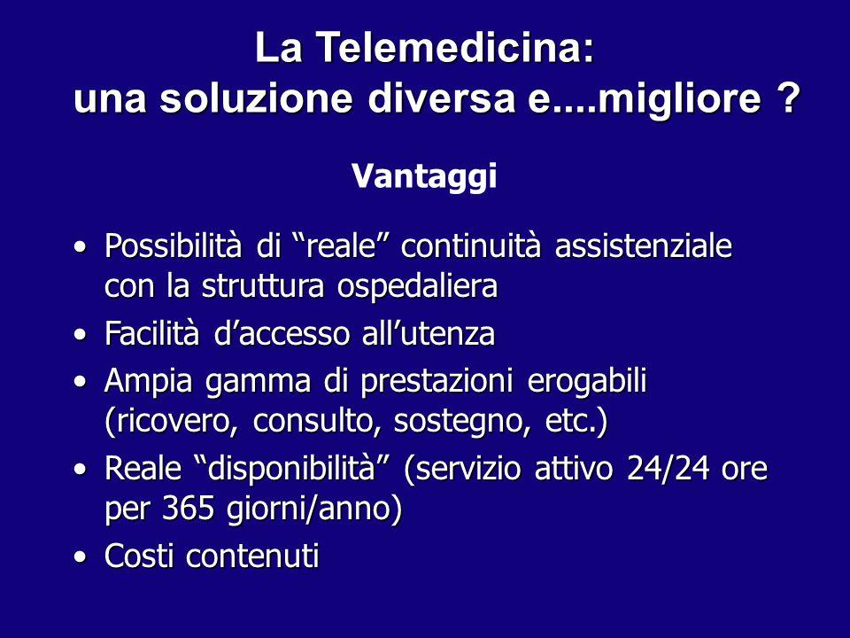 La Telemedicina: una soluzione diversa e....migliore