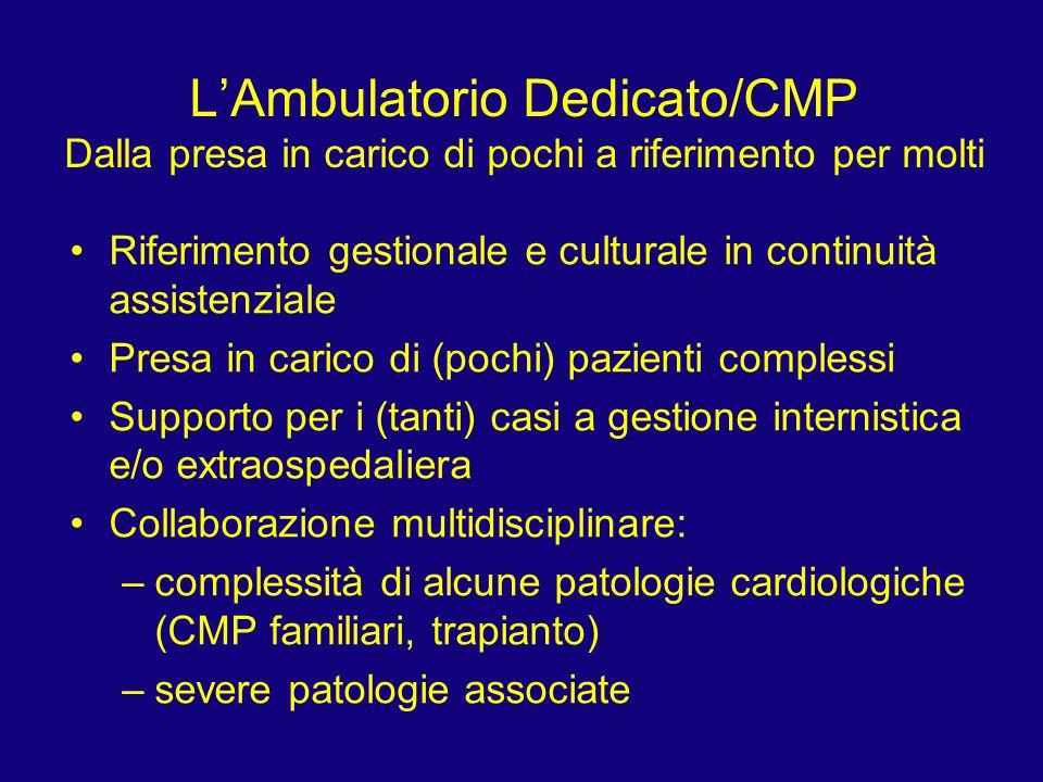 L'Ambulatorio Dedicato/CMP Dalla presa in carico di pochi a riferimento per molti