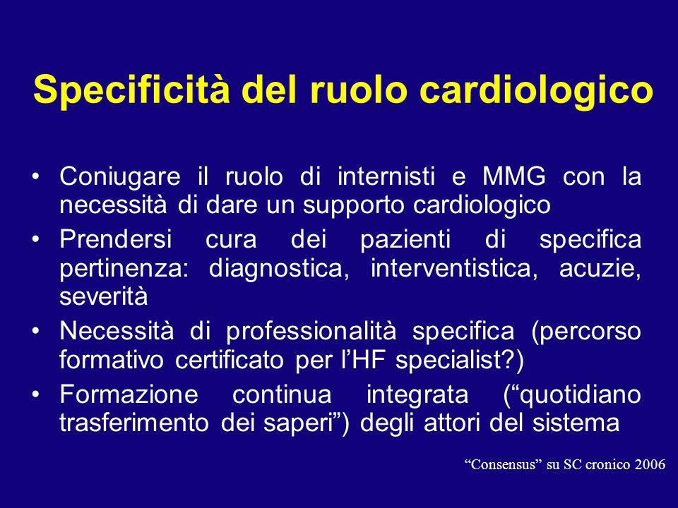 Specificità del ruolo cardiologico