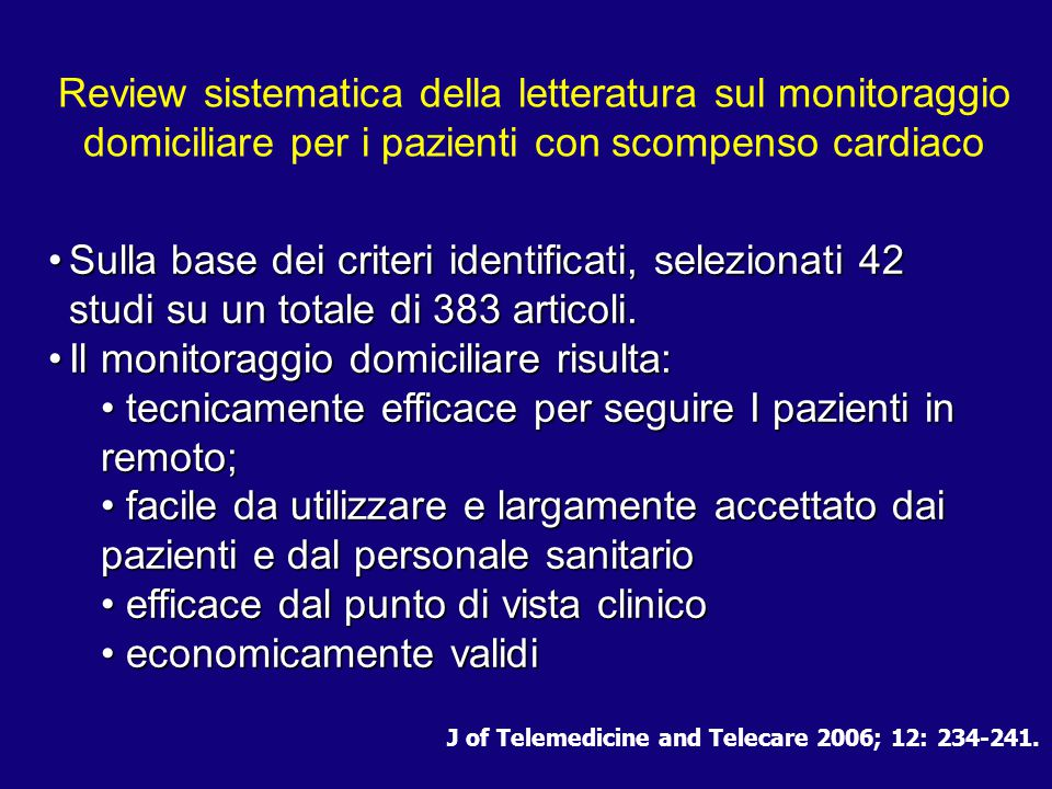 J of Telemedicine and Telecare 2006; 12: 234-241.