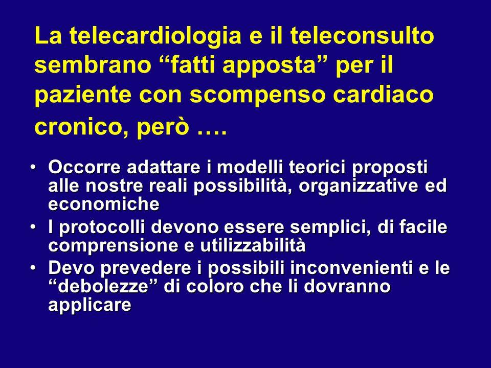 La telecardiologia e il teleconsulto sembrano fatti apposta per il paziente con scompenso cardiaco cronico, però ….