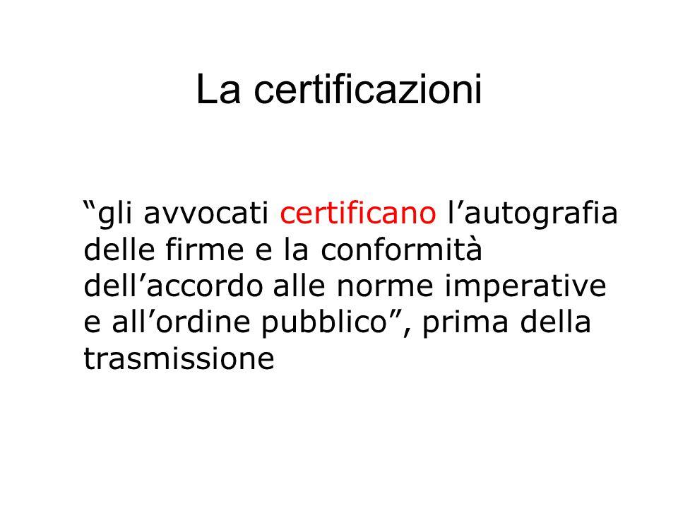 La certificazioni