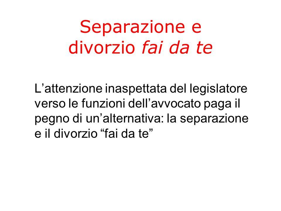 Separazione e divorzio fai da te