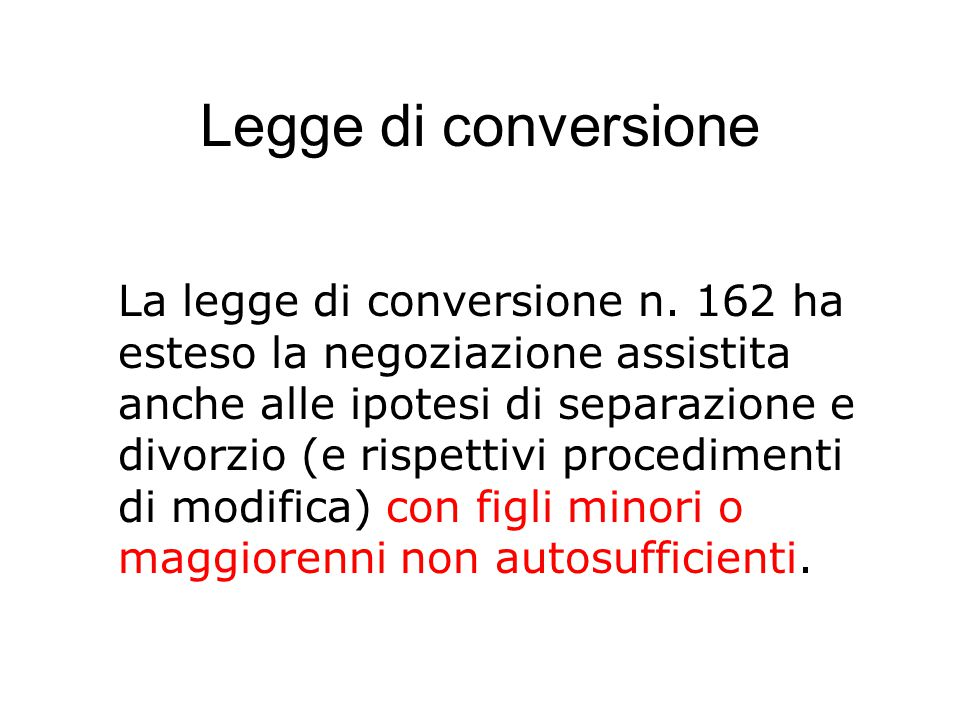 Legge di conversione