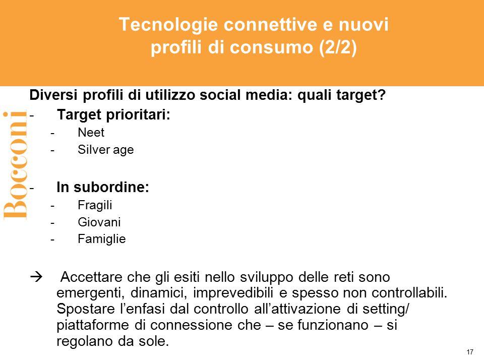 Tecnologie connettive e nuovi profili di consumo (2/2)