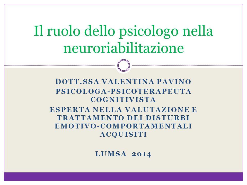 Il ruolo dello psicologo nella neuroriabilitazione
