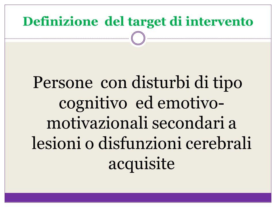 Definizione del target di intervento