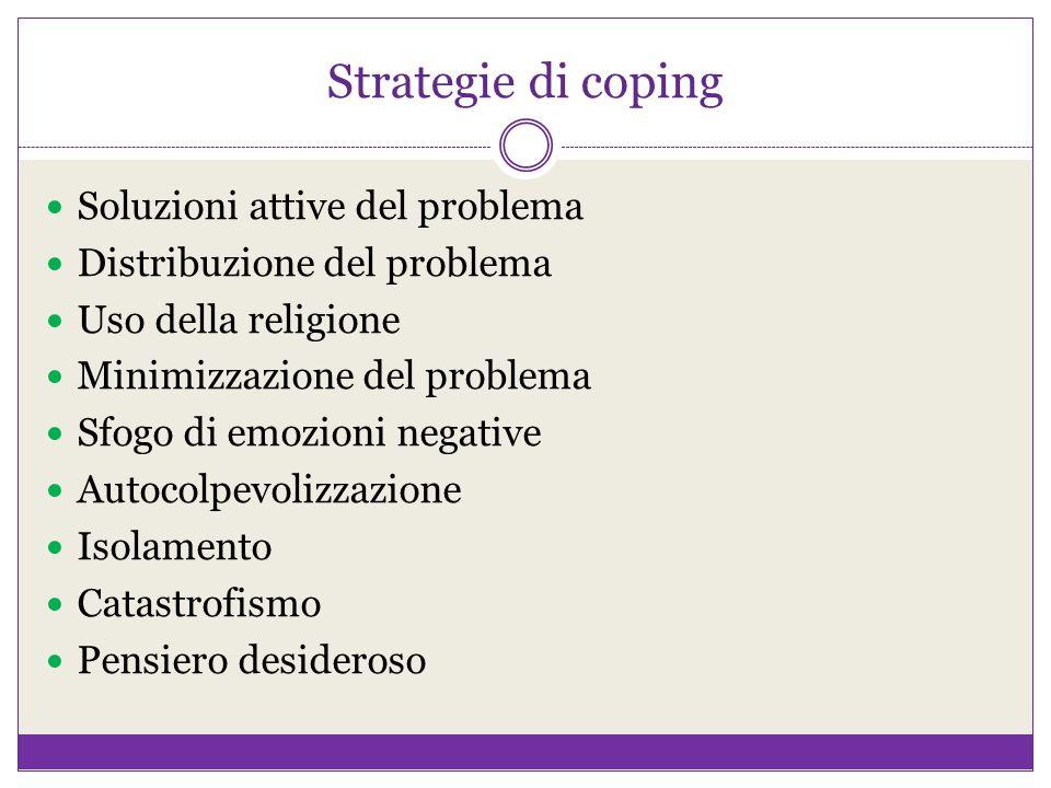 Strategie di coping Soluzioni attive del problema