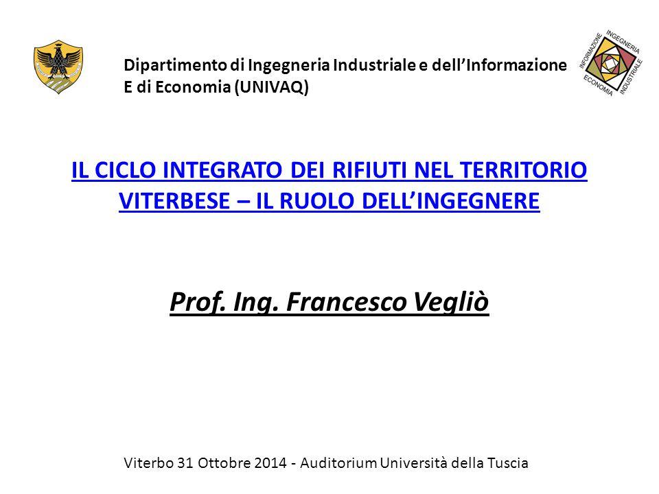 Prof. Ing. Francesco Vegliò