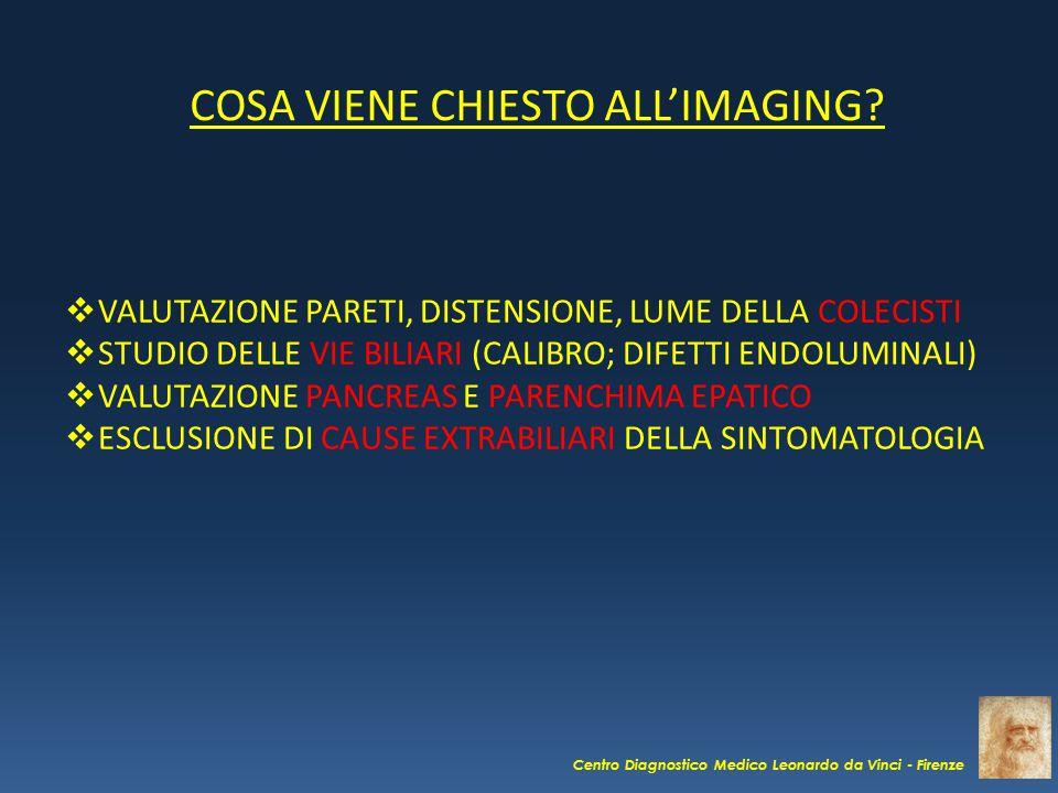 COSA VIENE CHIESTO ALL'IMAGING