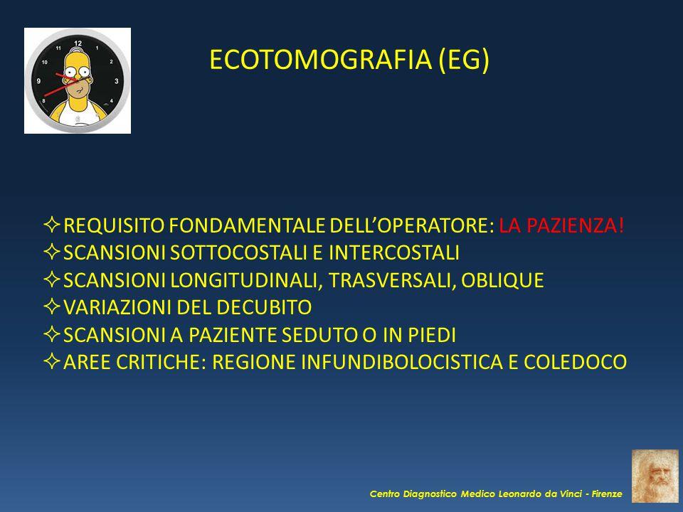 ECOTOMOGRAFIA (EG) REQUISITO FONDAMENTALE DELL'OPERATORE: LA PAZIENZA!