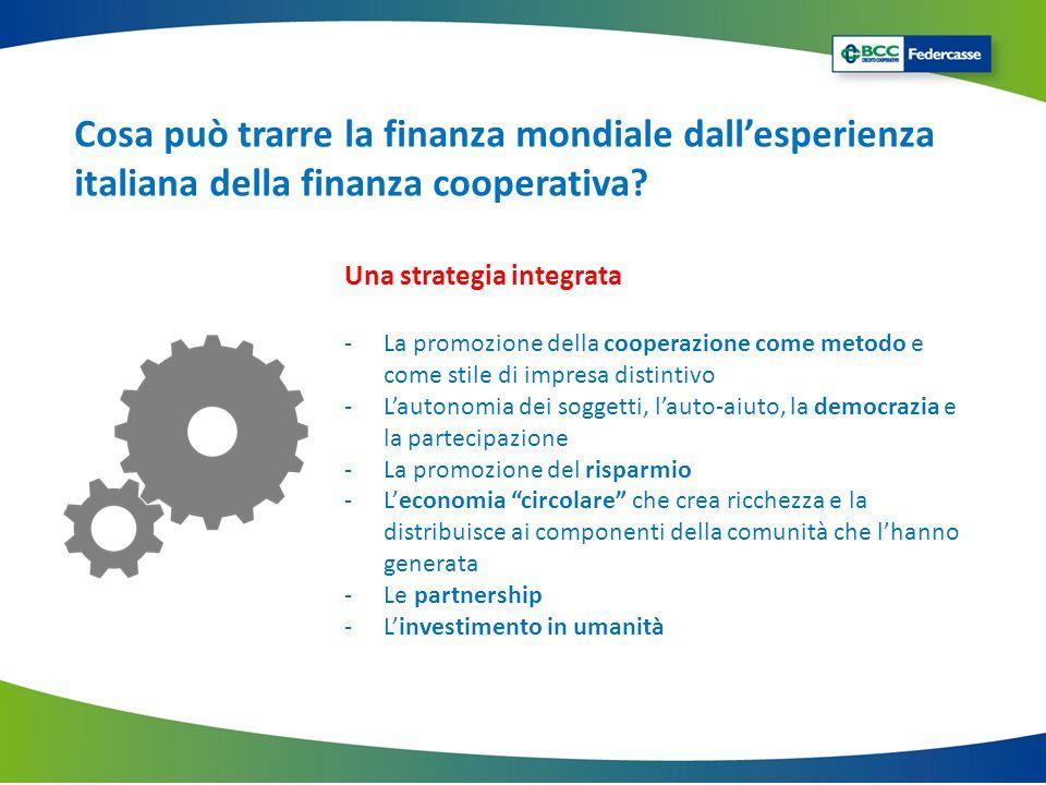 Cosa può trarre la finanza mondiale dall'esperienza italiana della finanza cooperativa