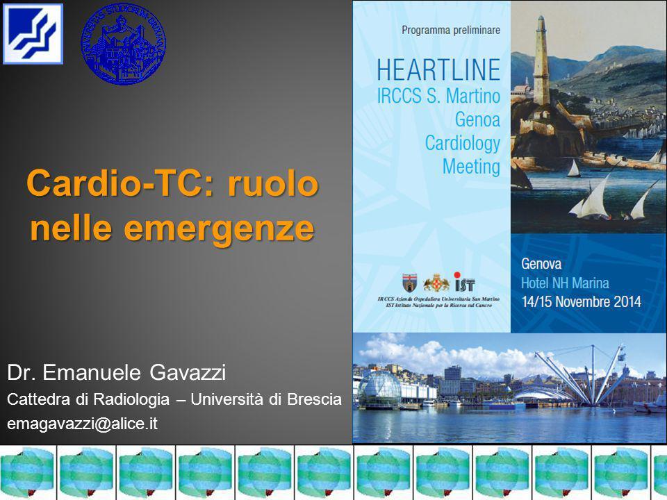Cardio-TC: ruolo nelle emergenze