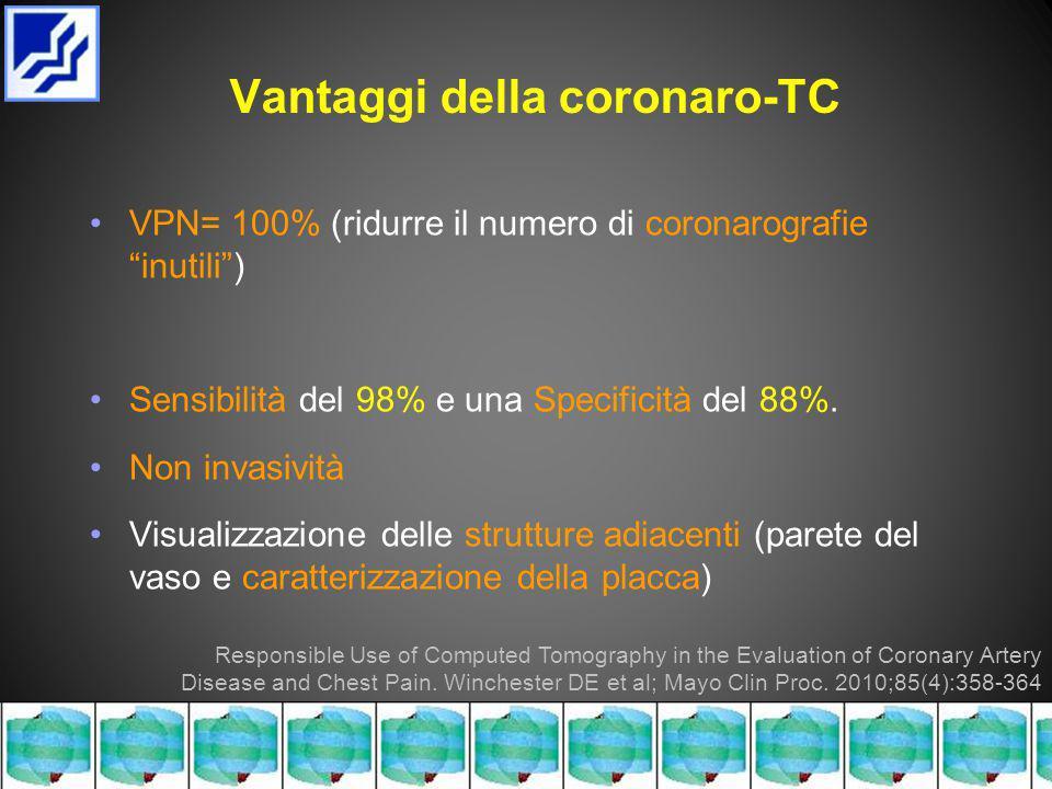 Vantaggi della coronaro-TC