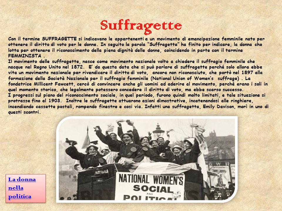 Suffragette La donna nella politica