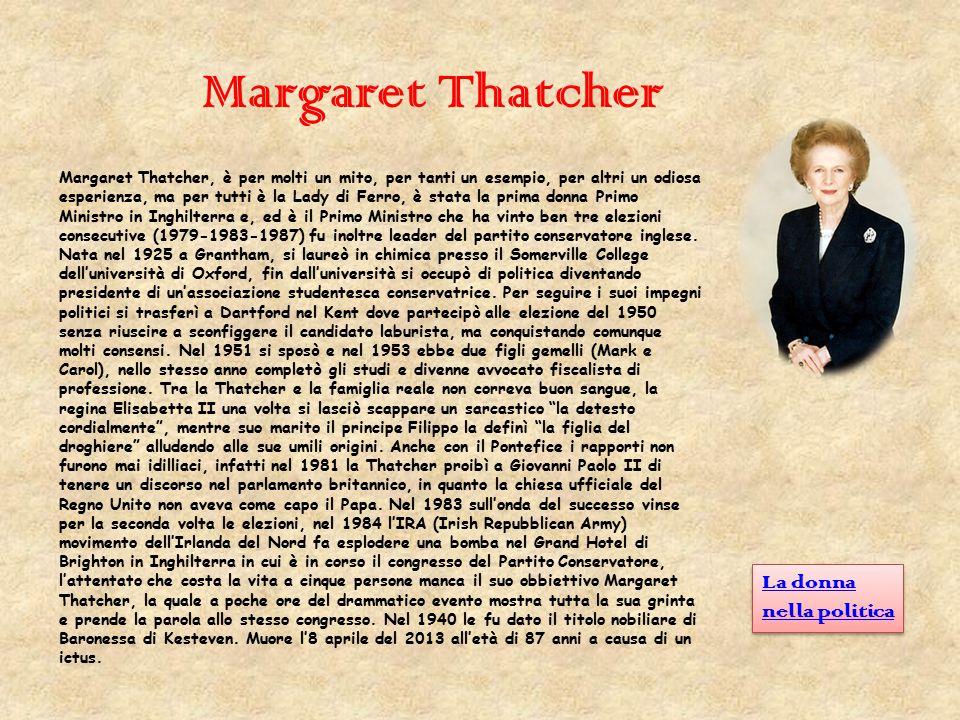 Margaret Thatcher La donna nella politica