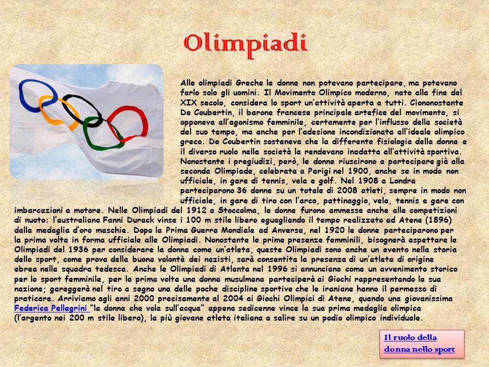 Olimpiadi Il ruolo della donna nello sport