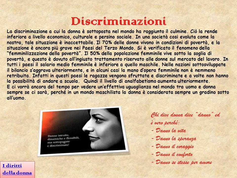 Discriminazioni Chi dice donna dice danno ed è vero perché: