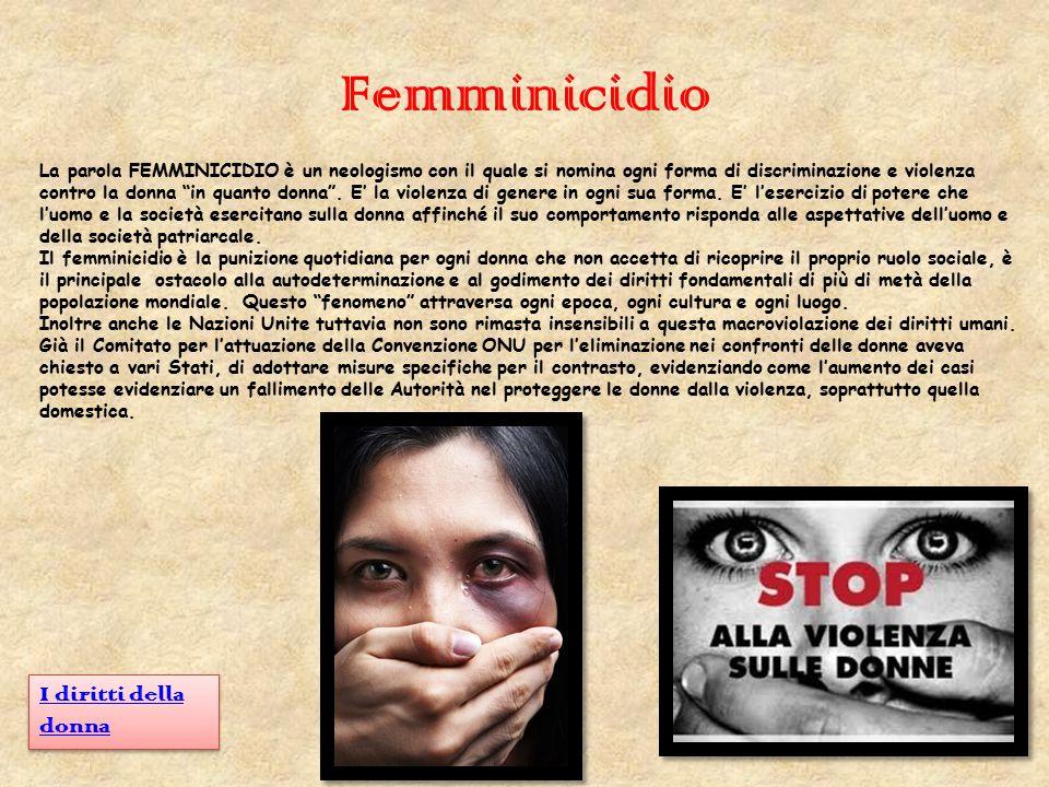 Femminicidio I diritti della donna