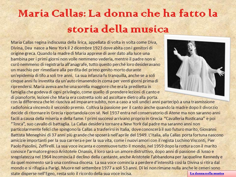 Maria Callas: La donna che ha fatto la storia della musica