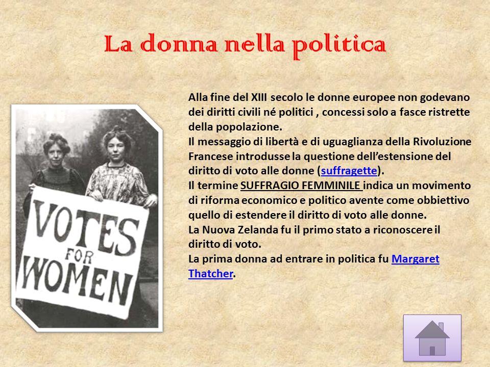 La donna nella politica