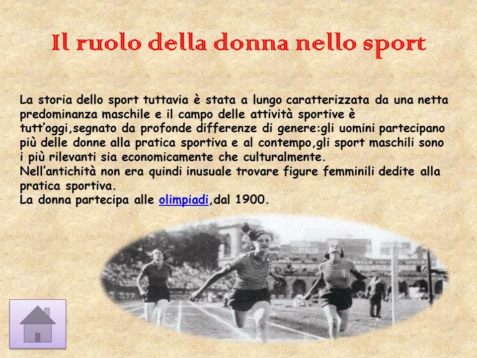 Il ruolo della donna nello sport