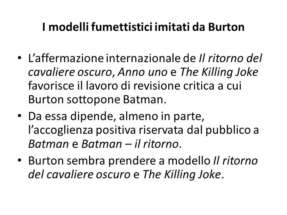 I modelli fumettistici imitati da Burton