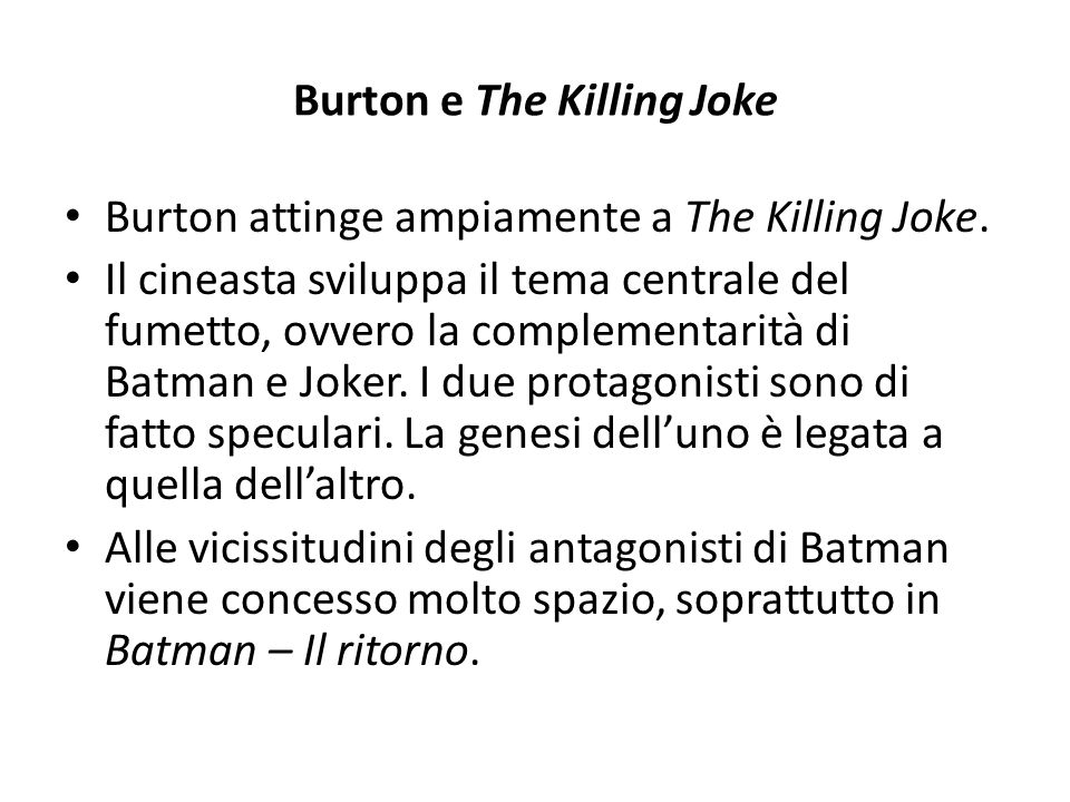 Burton e The Killing Joke