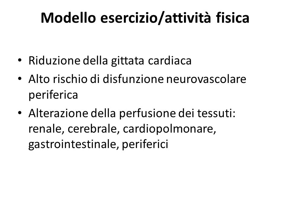 Modello esercizio/attività fisica