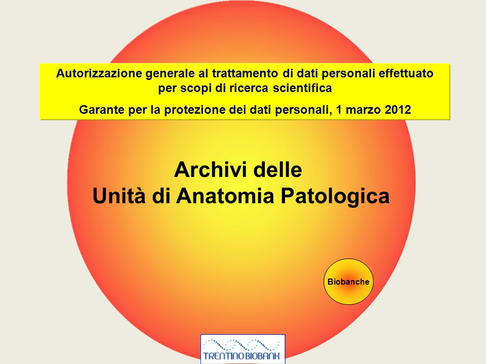 Archivi delle Unità di Anatomia Patologica