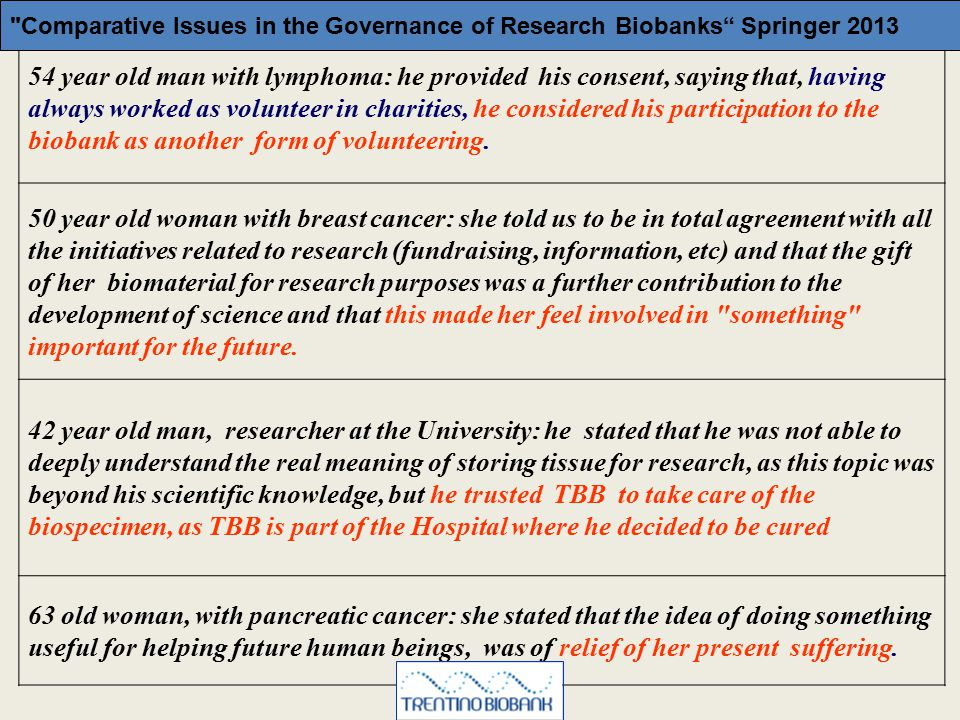 Comparative Issues in the Governance of Research Biobanks Springer 2013