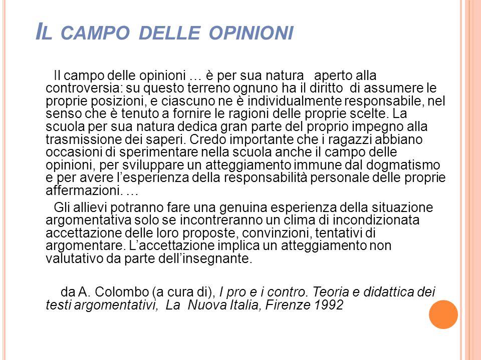 Il campo delle opinioni