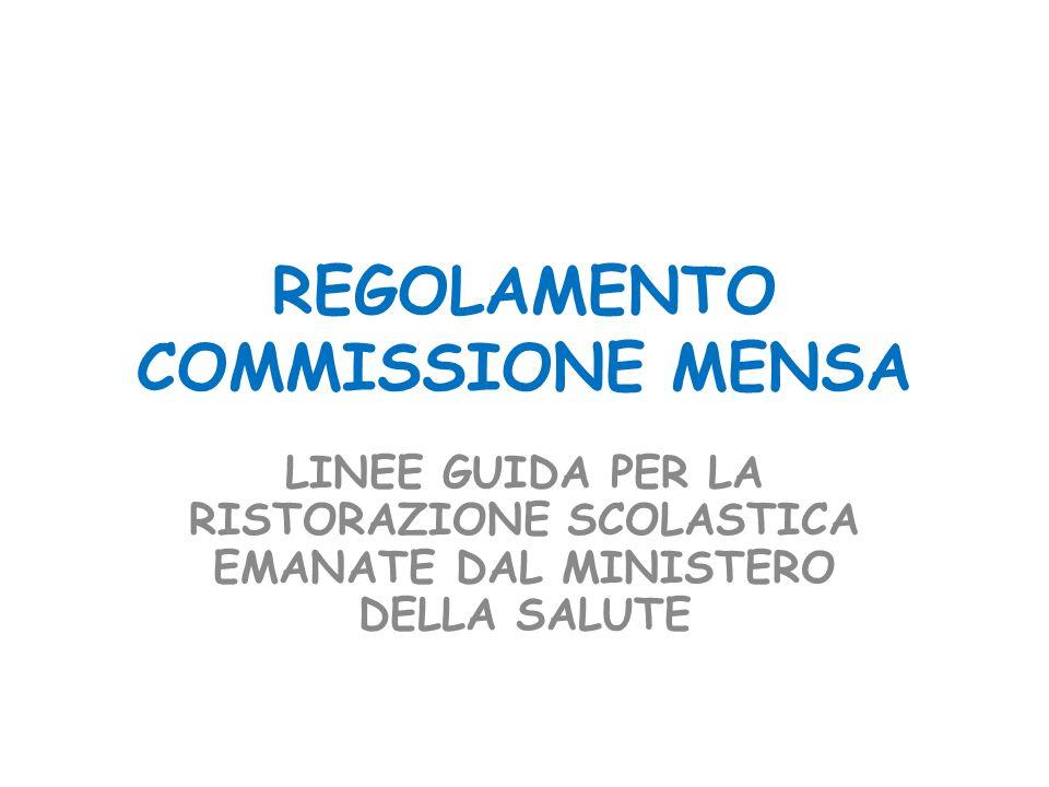 REGOLAMENTO COMMISSIONE MENSA