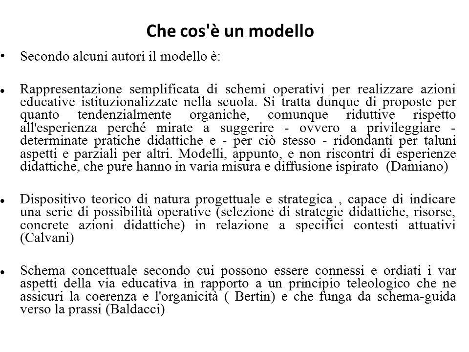 Che cos è un modello Secondo alcuni autori il modello è: